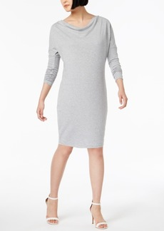 525 America Petite Cowl-Neck Dress, Created for Macy's