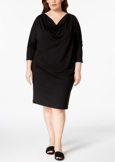 525 America Plus Size Cowl-Neck Knit Dress, Created for Macy's