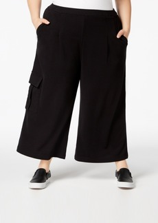 525 America Plus Size Cropped Cargo Sweatpants, Created for Macy's