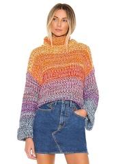 525 america Rainbow Marl Kimono Pullover