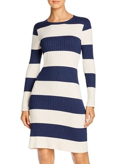 525 America Rugby-Stripe Sweater Dress