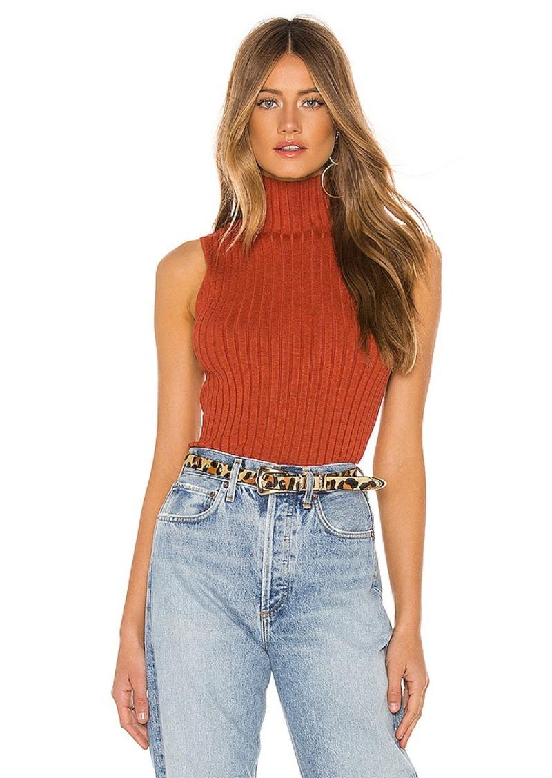 525 america Sleeveless Mock Neck Sweater
