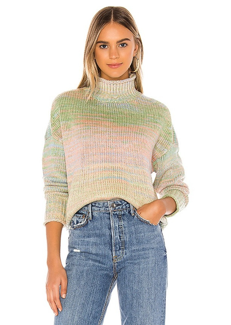 525 america Space Dyed Crop Mock Neck Sweater