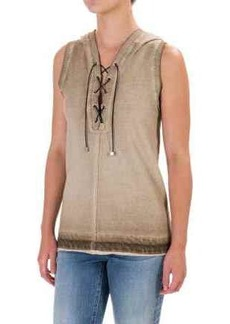 525 America Spray-Dyed Hoodie - Front Lace, Sleeveless (For Women)