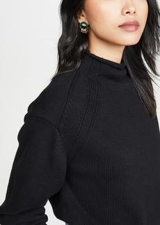 575 Denim 525 Transfer Detail Mock Neck Sweater