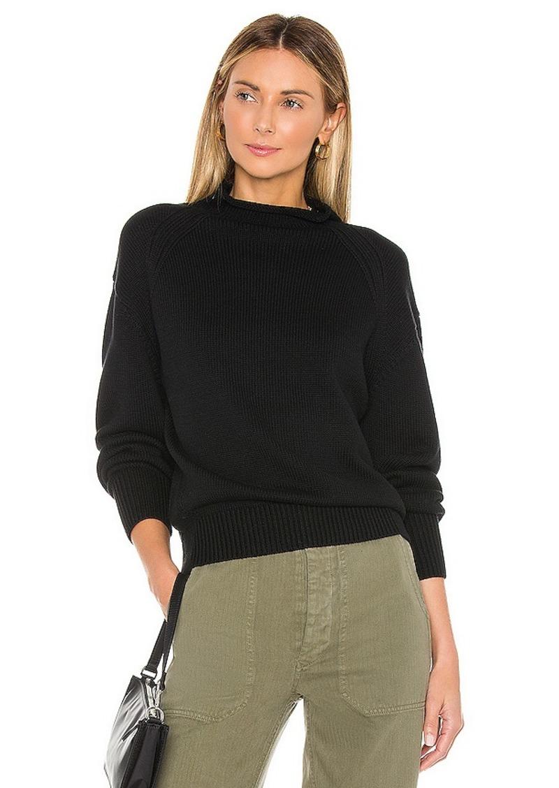 525 america Transfer Detail Mock Neck Sweater