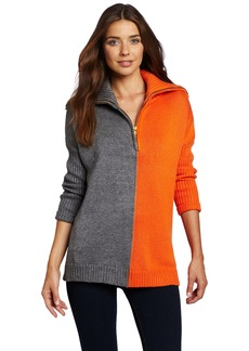 525 America Women's Color Block Zip Pullover Sweater