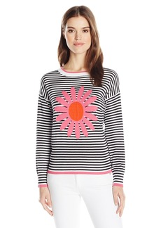 525 America Women's Cotton Daisy Stripe Sweater  M