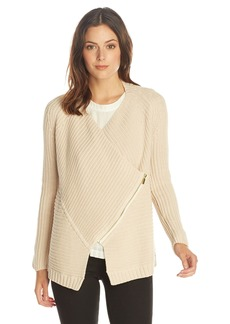 525 America Women's Cotton Zipper Envelope Cardigan