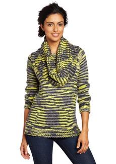 525 America Women's Detach Cowl Boyfriend Sweater