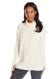 525 America Women's Feather-Yarn Sweater with Thumbholes