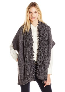 525 America Women's Hand Knit Fringe Open Cardigan  Medium/Large