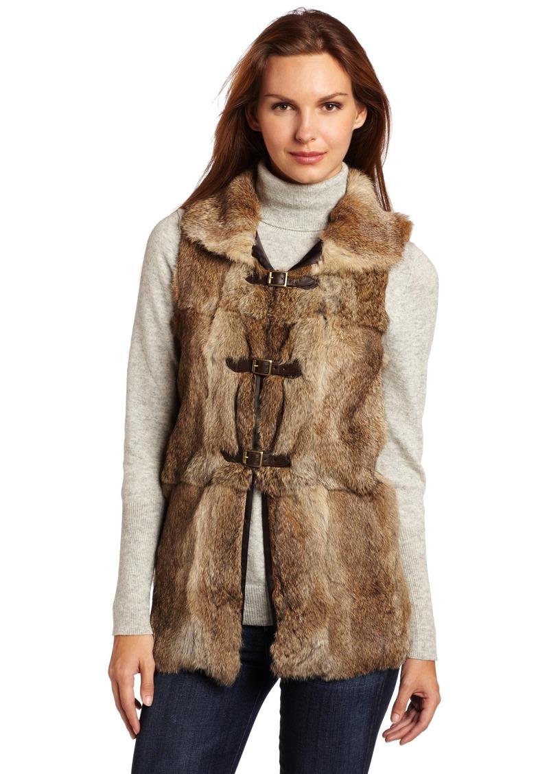 525 America Women's Rabbit Long Vest with Buckle Closures