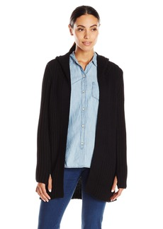 525 America Women's Rib Sweater Coat with Hood and Thumbhole