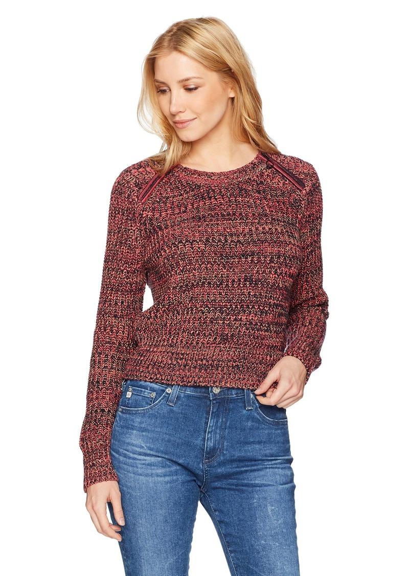 525 America Women's Tweed Cotton Crop Crew with Zip