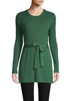 525 America Belted Long-Sleeve Sweater