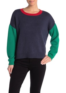 525 America Color Block Crew Neck Sweater