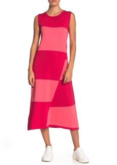 525 America Colorblock Knit Midi Dress