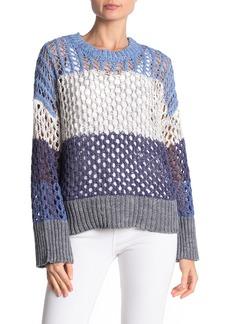 525 America Colorblock Loose Knit Sweater