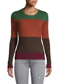 525 America Colorblock Striped Sweater