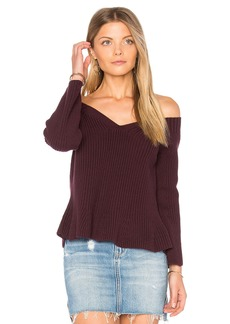 525 America Crop Peplum Sweater
