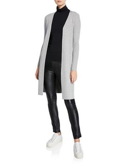 525 America Open-Front Long-Sleeve Ribbed Cardigan