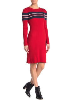525 America Placed Stripe Rib Dress