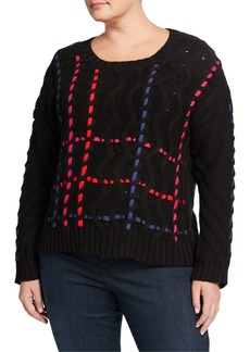525 America Plus Size Novelty Knit Shaker Top