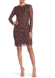525 America Polka Dot Ruche Mesh Dress