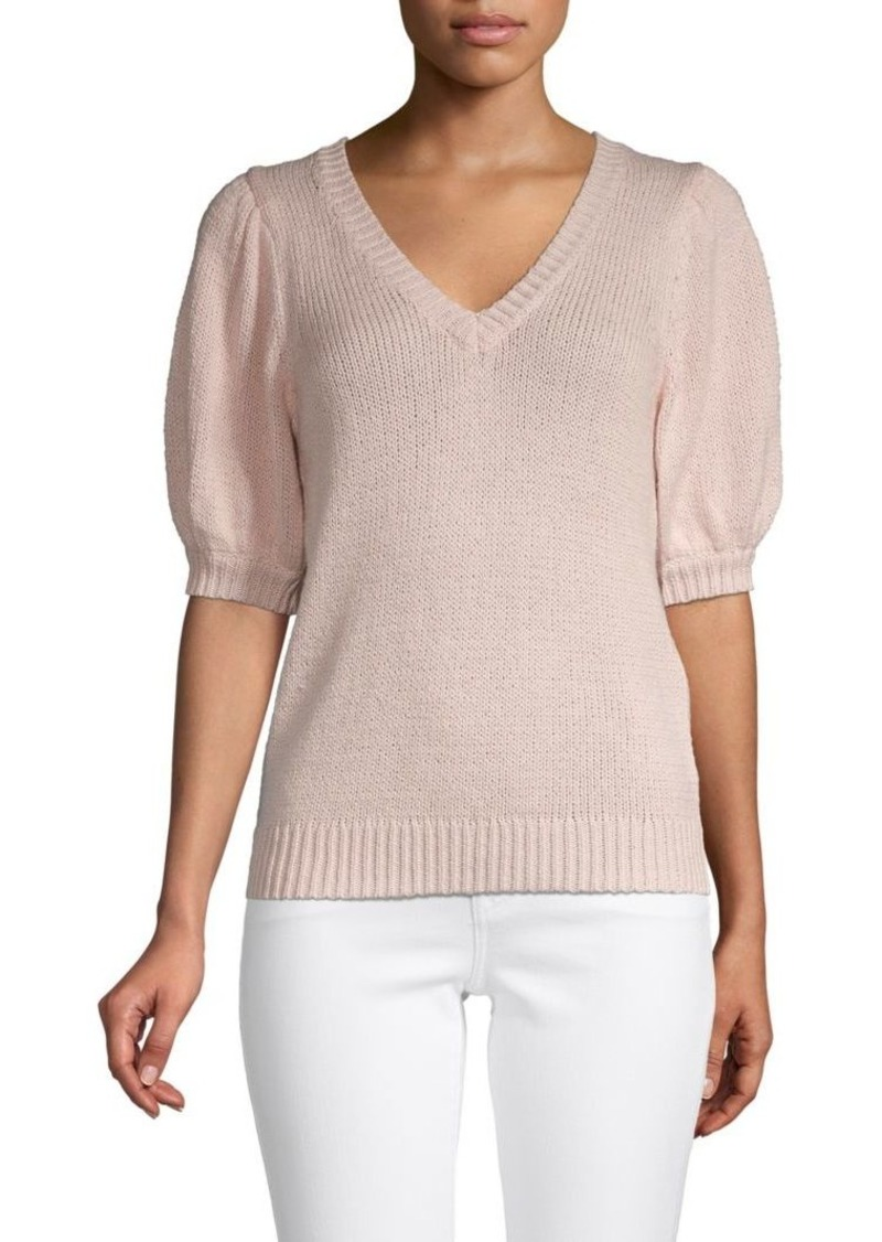 525 America Puffed-Sleeve Cotton Sweater