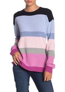 525 America Rainbow Stripe Shaker Pullover Sweater