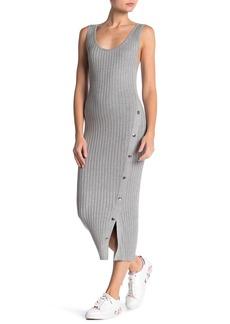 525 America Side Button Ribbed Knit Tank Dress