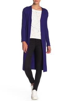 525 America Solid Open Front Rib Longline Cardigan