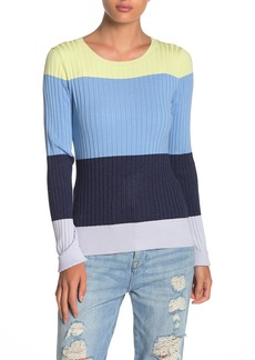 525 America Striped Colorblock Rib Knit Pullover