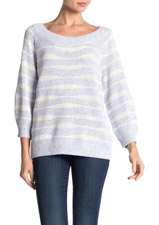 525 America Striped Scoop Neck Sweater