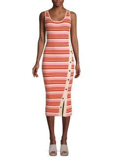 525 America Striped Snap-Button Tank Dress