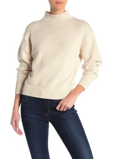 525 America Transfer Detail Mock Neck Sweater