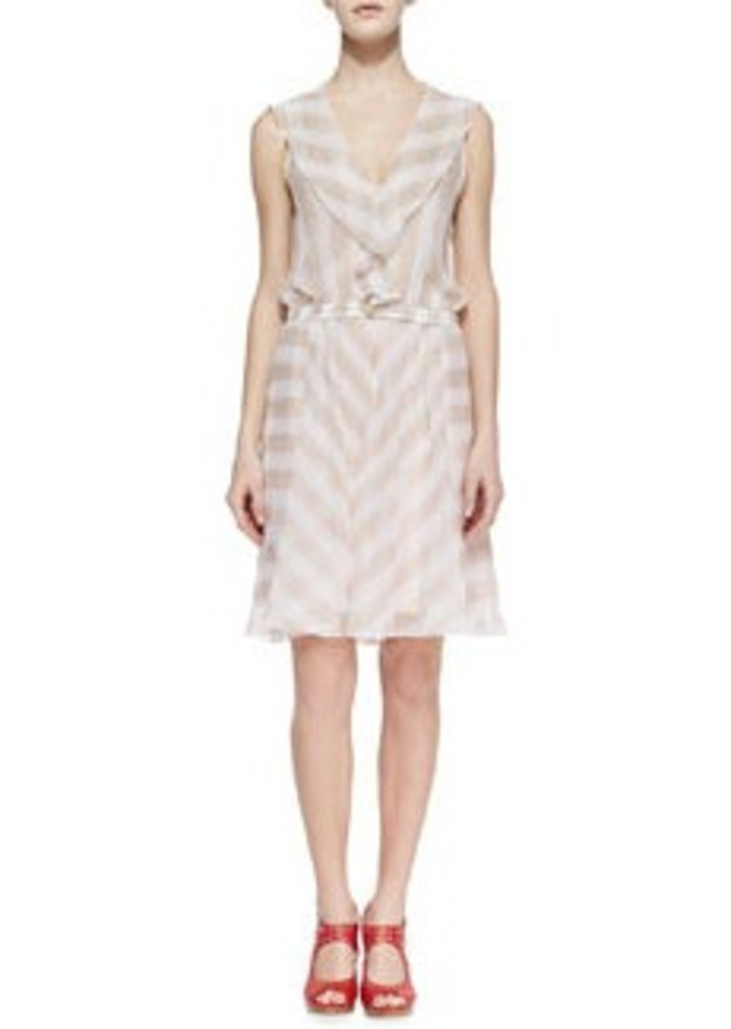 Nanette Lepore Subtle Hint Striped Silk Dress