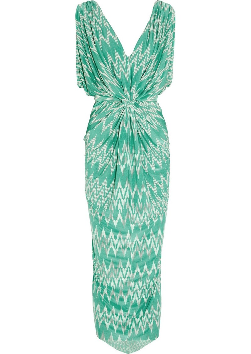 T-Bags Printed jersey maxi dress