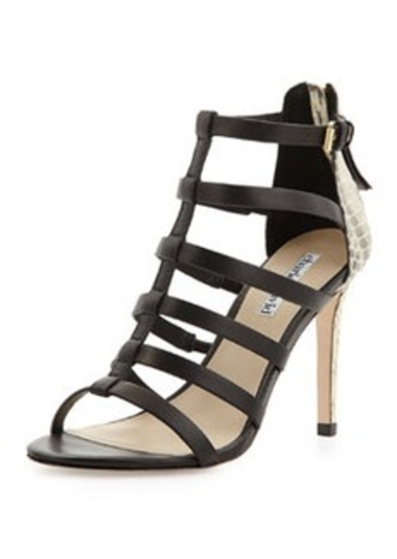 Charles David Idealize Snakeskin Strappy Sandal, Black