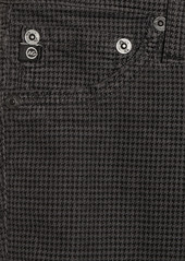 AG Adriano Goldschmied AG Jeans The Legging houndstooth-print stretch-corduroy jeans