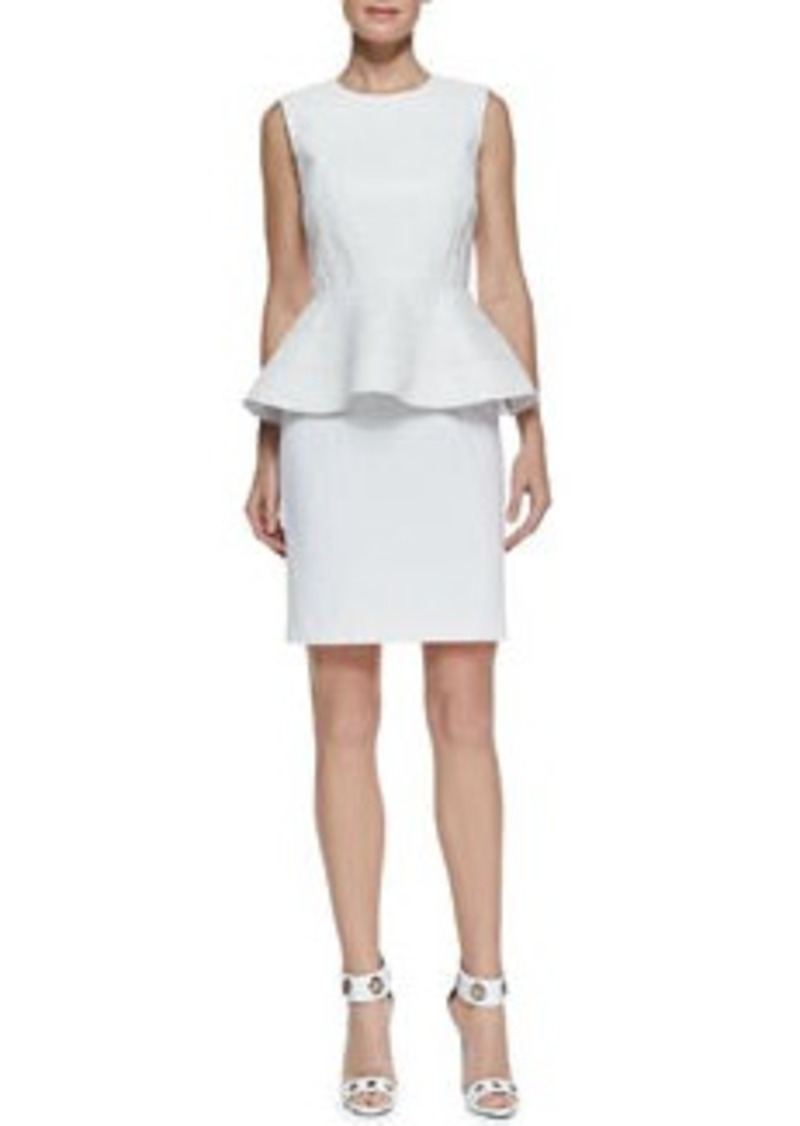 Catherine Malandrino Sleeveless Peplum Ponte Dress   Sleeveless Peplum Ponte Dress