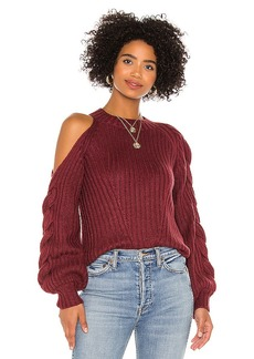 575 Denim 525 Braided Sleeve Cold Shoulder Pullover