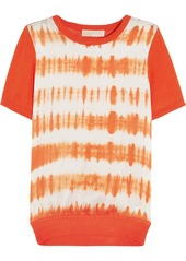 MICHAEL Michael Kors Tie-dyed stretch-silk and cotton-blend top