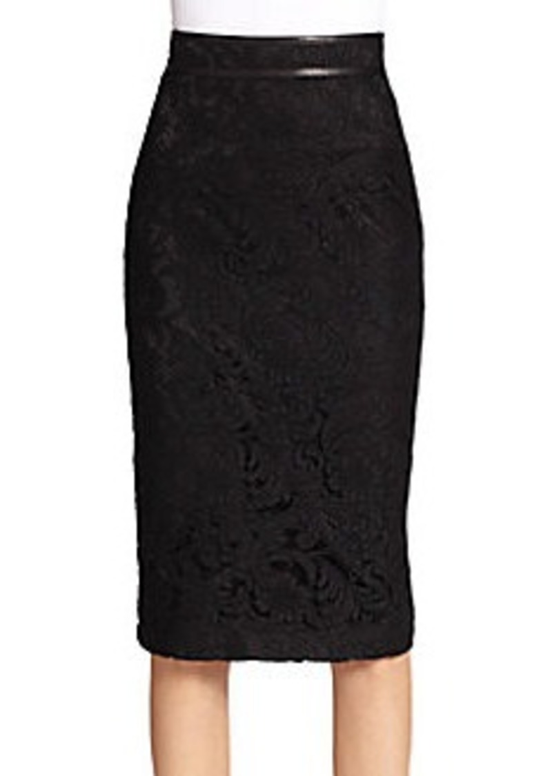 burberry burberry lace fishtail pencil skirt