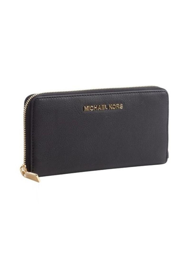 MICHAEL Michael Kors black leather 'Bedford' zip continental wallet