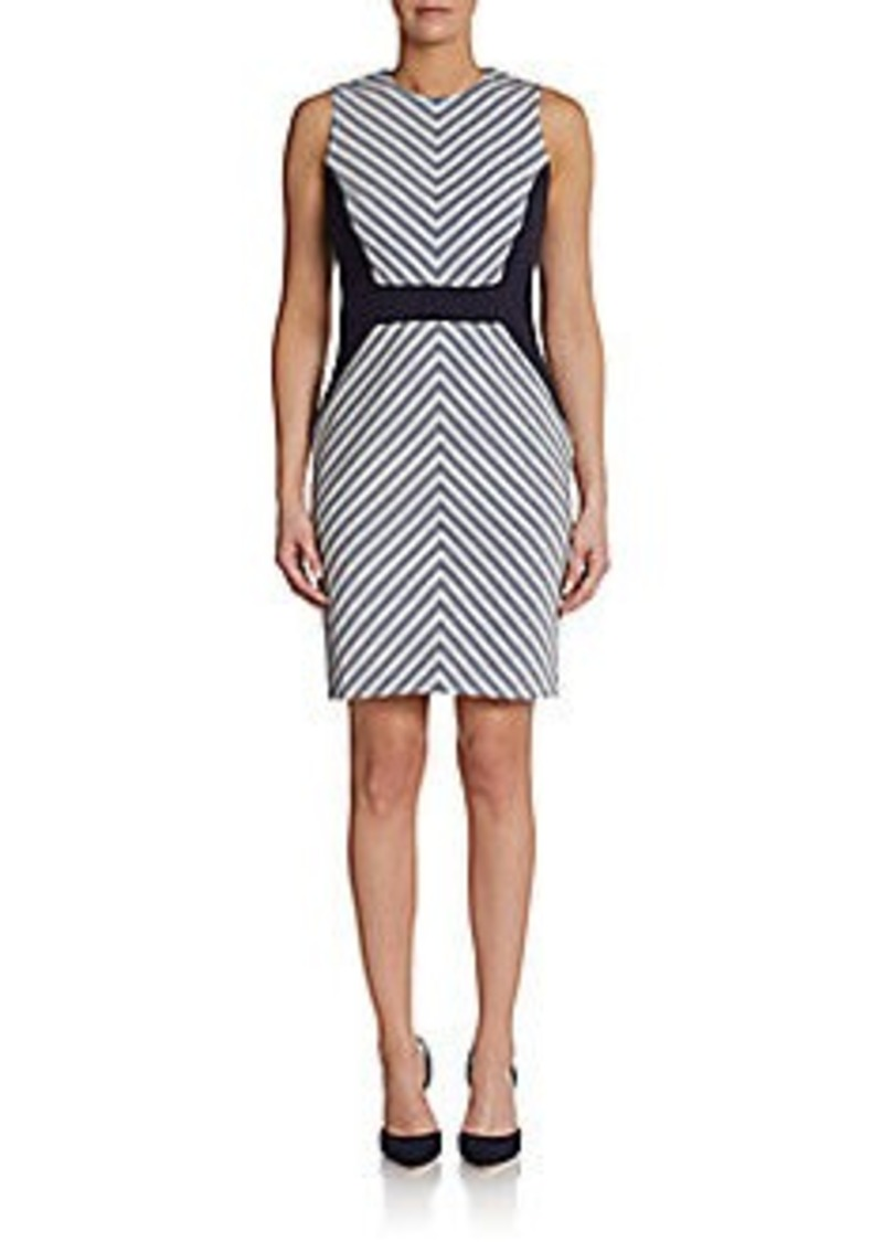 Calvin Klein Sleeveless Chevron-Print Sheath Dress