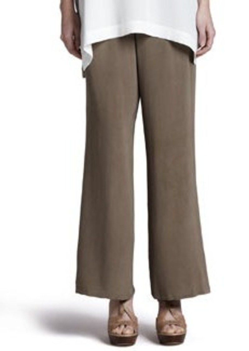Go Silk Silk Full-Leg Pants