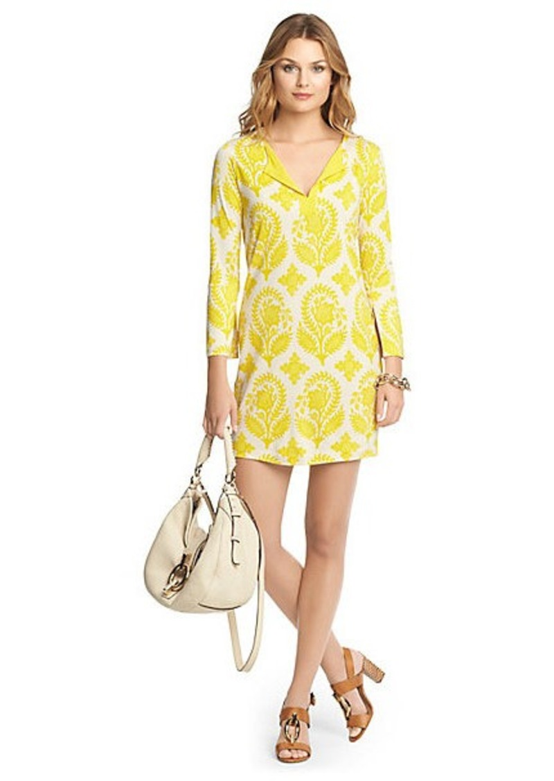 Diane Von Furstenberg New Reina Two Silk Jersey Tunic Dress