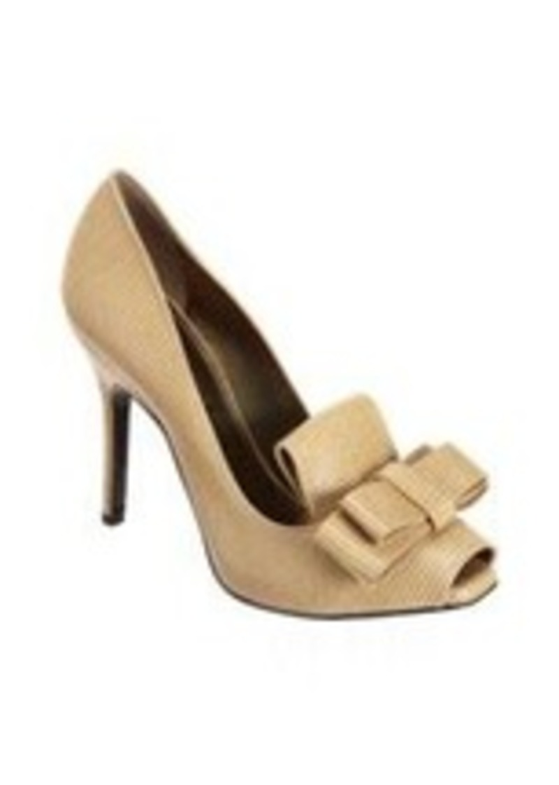 Lanvin Peep Toe Bow Loafer Pump